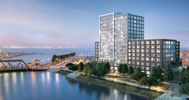One Mission Bay, a luxury condominium development, sold the most number of units in San Francisco's Mission Bay neighborhood to tech workers. Source: One Mission Bay