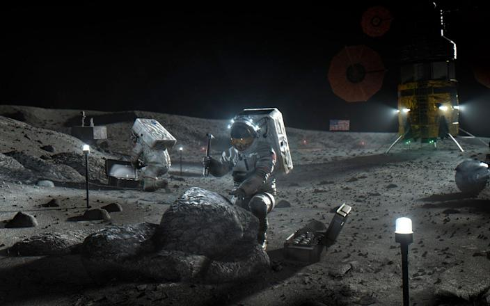 Artists impression of a future mission to the moon - NASA