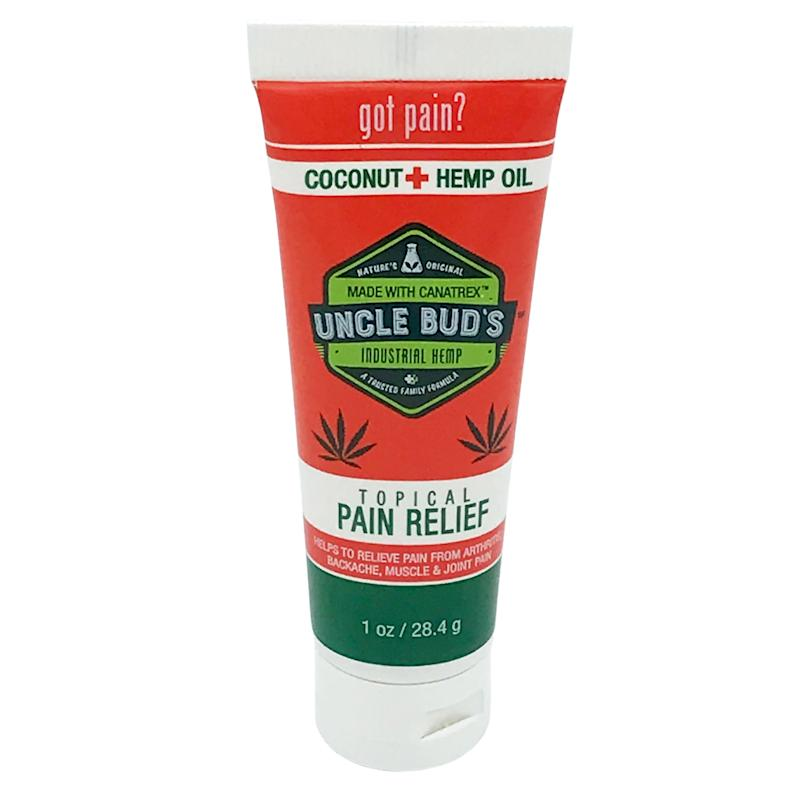 Uncle Bud's Hemp Topical Pain Reliever. This fast-acting pain reliever works faster, penetrates deeper and relieves aches and pains better than any other over-the-counter pain relief product on the market. $15.99