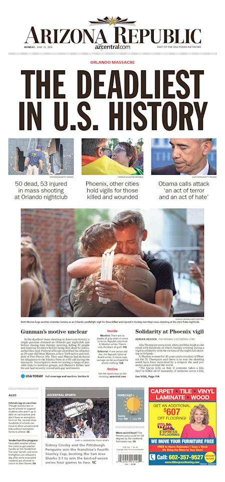<p>The Arizona Republic<br /> Published in Phoenix, Ariz. USA. (newseum.org) </p>