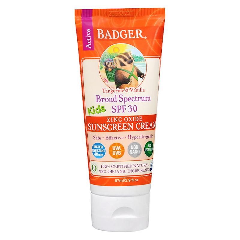 Badger Kids Tangerine & Vanilla Sunscreen Cream SPF 30