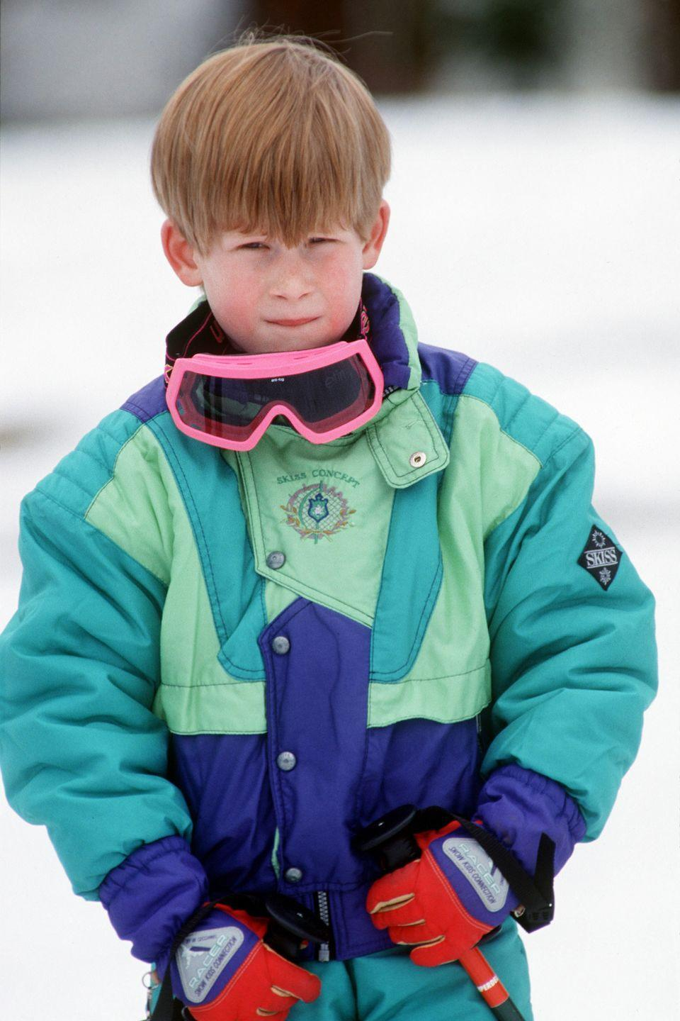 <p>Harry looks winter ready on a ski trip to Austria with his family. </p>