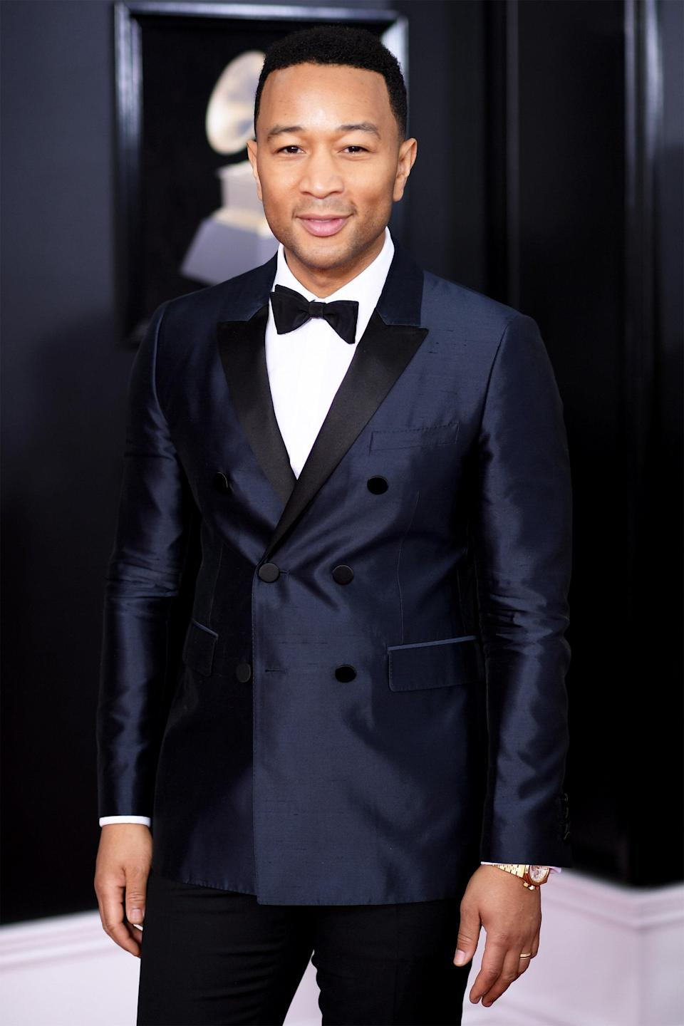 """John Legend's last name is quite fitting, though the Grammy winner's said he """"never"""" would have chosen it himself. (His real name is John Roger Stephens.) """"John Legend is a nickname that some friends started calling me, and it kind of grew into my stage name,"""" he told <a href=""""http://www.mtv.com/news/1593317/john-legend-reflects-on-his-early-days-when-kanye-west-was-opening-for-him/"""" rel=""""nofollow noopener"""" target=""""_blank"""" data-ylk=""""slk:MTV News"""" class=""""link rapid-noclick-resp""""><em>MTV News</em></a>. """"It grew to the point where more people in my circle would know me by that name than by my real name. I had to make a decision."""""""