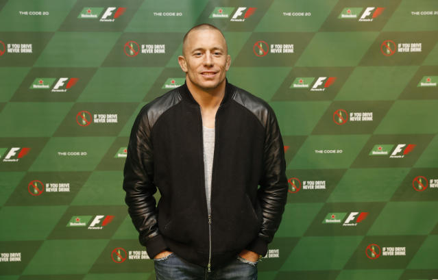Georges St-Pierre, pictured at the Official F1 Heineken Party After The Canadian Grand Prix, on June 12, 2016 in Montreal, Canada, will return to the Octagon at UFC 217 against Michael Bisping in one of the biggest fights of 2017.