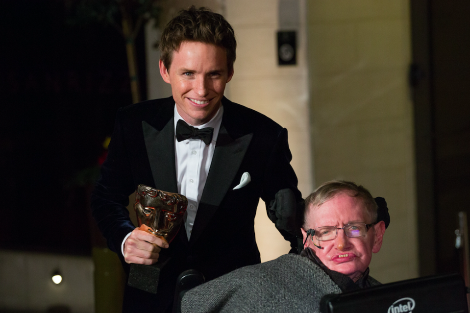 <em>Actor Eddie Redmayne played Prof Hawking in The Theory Of Everything (PA)</em>