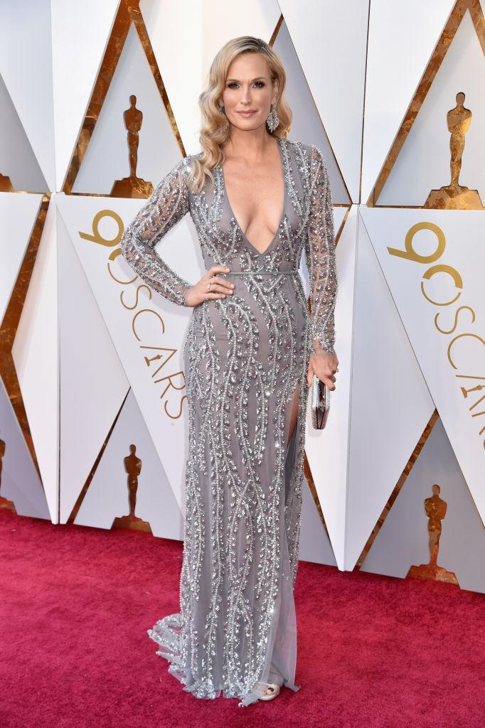 <p>Molly Sims attends the 90th Academy Awards in Hollywood, Calif., March 4, 2018. (Photo: Getty Images) </p>