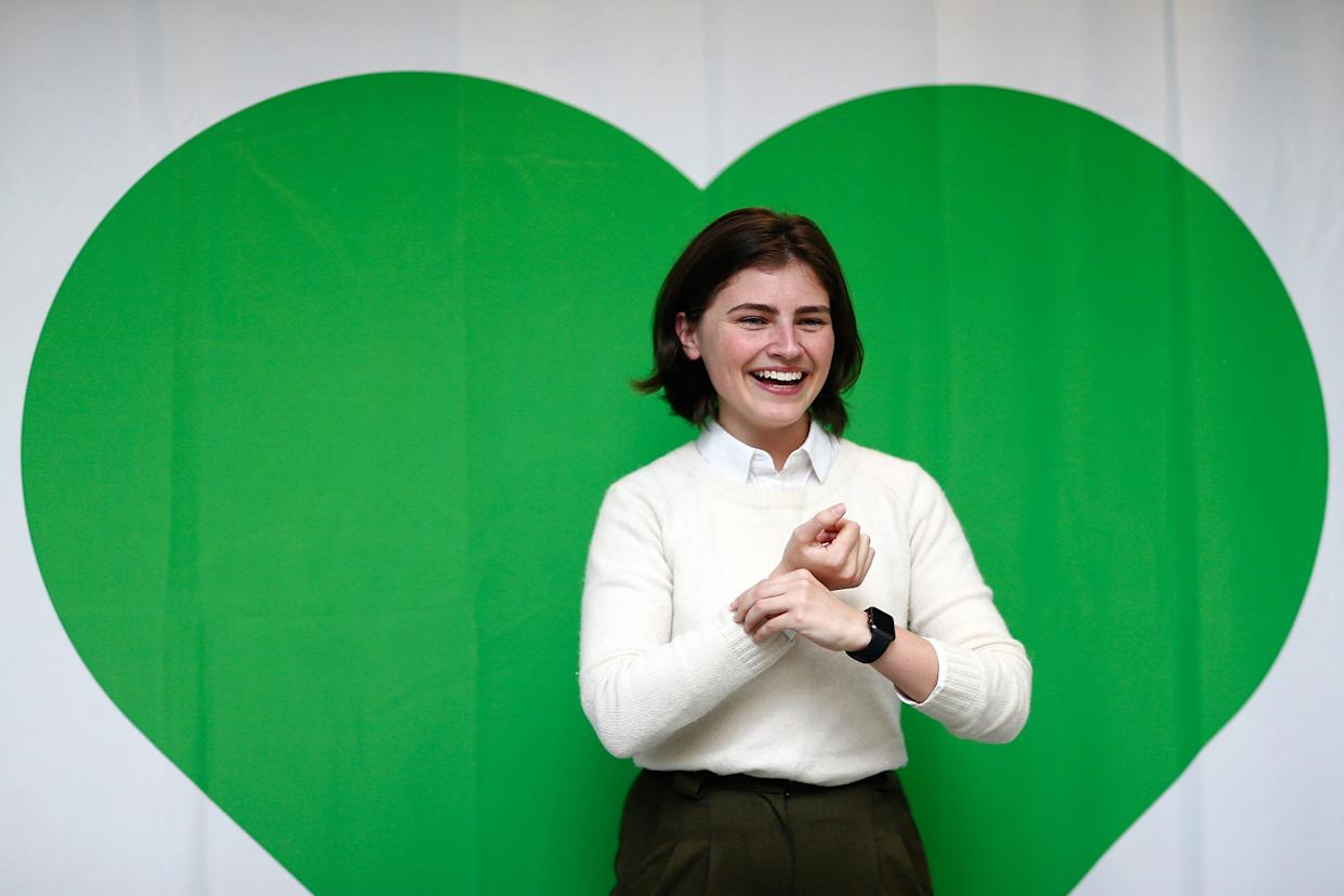 Green Party candidate Chloe Swarbrick during the 2017 Green Party Conference at AUT Auckland during the 2017 Green Party Conference on July 16, 2017 in Auckland, New Zealand.