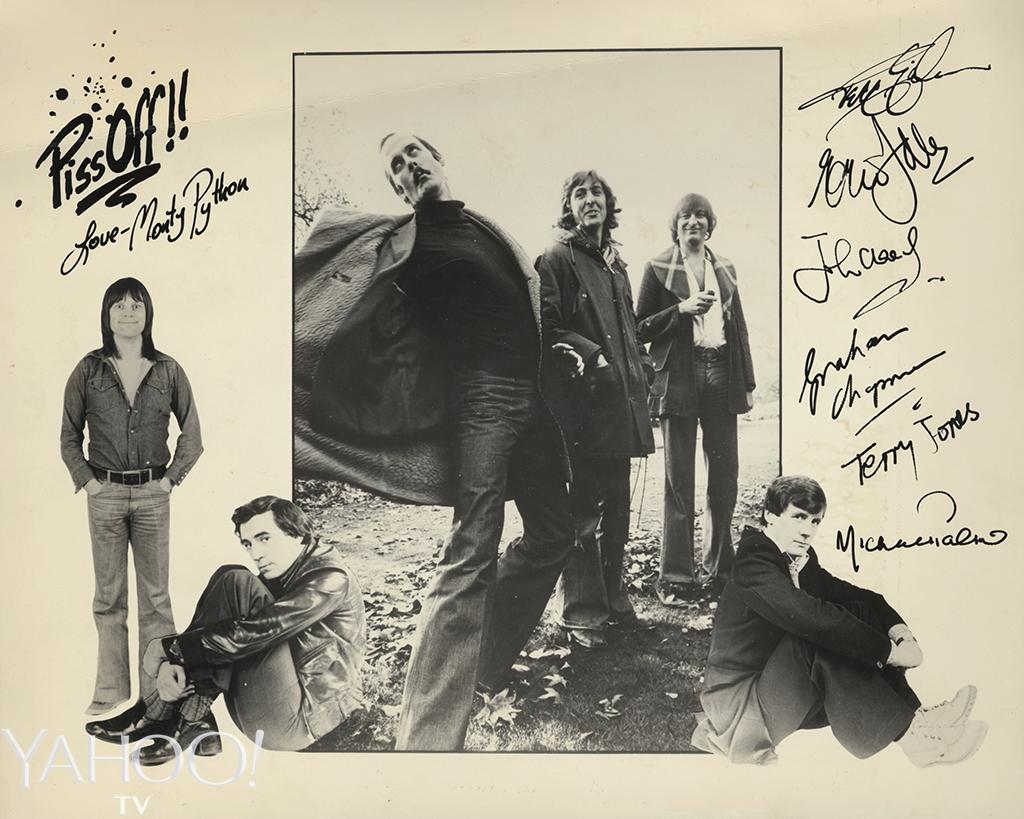 <p>An early composite publicity shot for the BBC. From left, Terry Gilliam, Terry Jones, John Cleese, Eric Idle, Graham Chapman, and Michael Palin. (Credit: Abrams Books) </p>