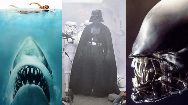 'Jaws', 'Star Wars: A New Hope' and 'Alien'. (Credit: Universal/Disney/Fox)