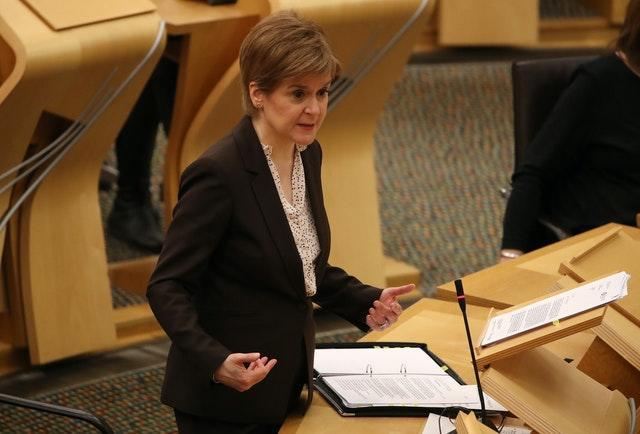 First Minister Nicola Sturgeon announces that Scotland will be placed in lockdown from midnight
