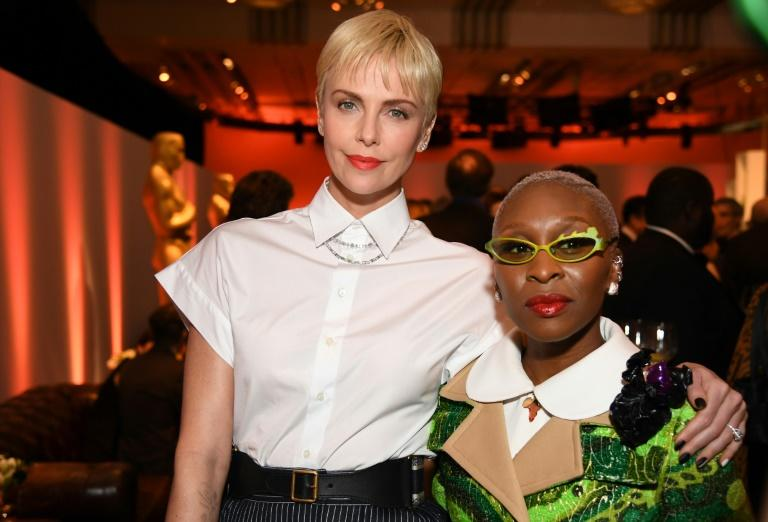 """This year's Oscars feature just one non-white acting nominee -- Cynthia Erivo for """"Harriet,"""" nominated alongside Charlize Theron"""
