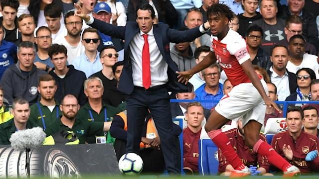 Unai Emery lost his second match in a row as Arsenal boss as Chelsea won the derby, but he was still encouraged by the performance.