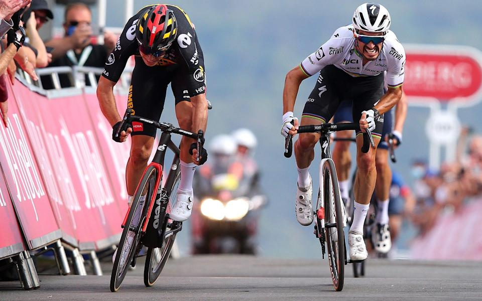 Wout van Aert and Julian Alaphilippe - GETTY IMAGES