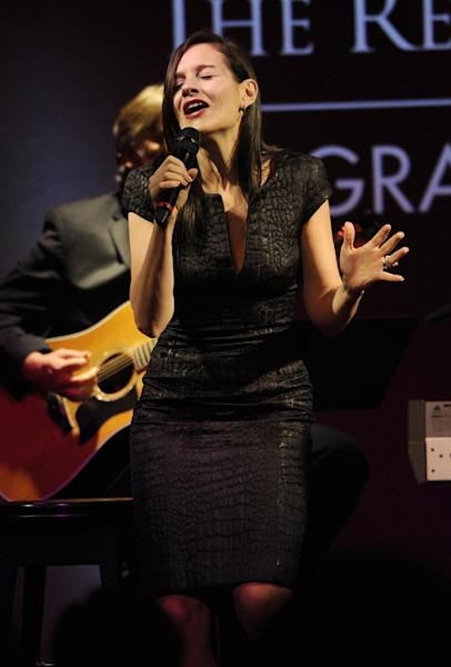 Kara DioGuardi performs at the Grammy's on the Hill Awards at The Hamilton on Wednesday, April 17, 2013 in Washington. (Photo by Nick Wass/Invision/AP)