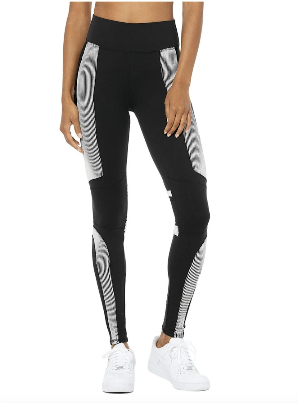 <p>The <span>Alo Yoga High-Waist Electric Leggings</span> ($138) are made with the brand's signature sculpting Airbrush fabric and extra stretch built in, so they move with your body. The stylish ribbed design will look great for your workout <i>and </i>for running errands before or after.</p>