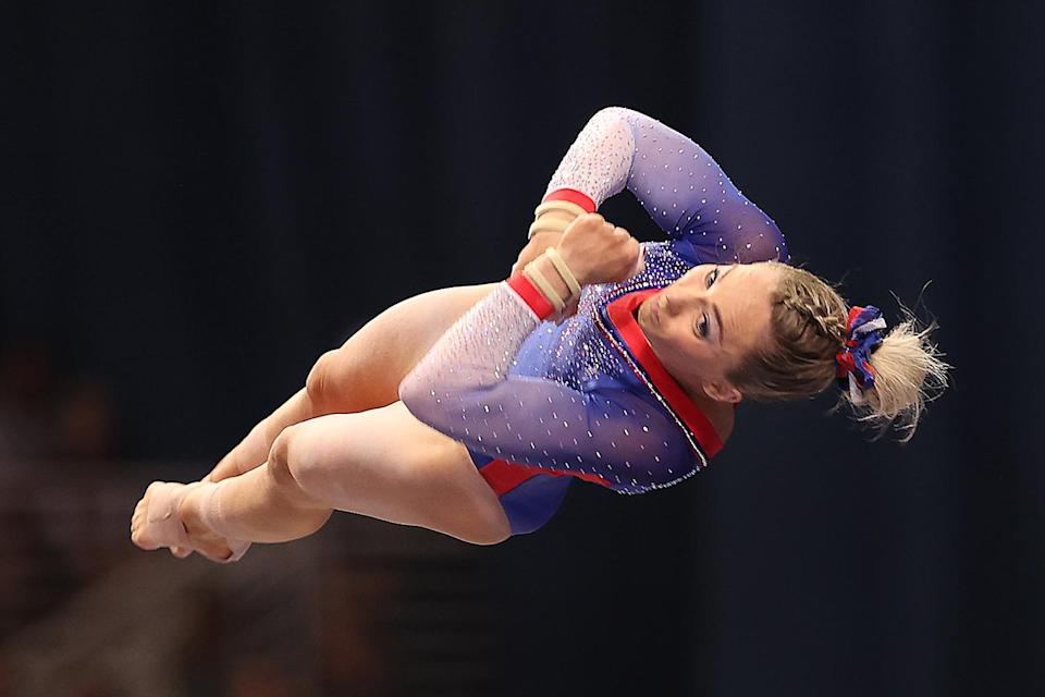 """<p>Also competing individually, Skinner, 24, was an alternate on the 2016 Olympic team. She overcame a tough case of COVID-19 to make it to Tokyo — and doesn't take her spot for granted. """"I survived, but I wanted to give up so many times,"""" <a href=""""https://people.com/sports/tokyo-olympics-mykayla-skinner-on-making-gymnastics-team-after-covid/"""" rel=""""nofollow noopener"""" target=""""_blank"""" data-ylk=""""slk:she said"""" class=""""link rapid-noclick-resp"""">she said</a> of grappling with the virus in an <a href=""""https://www.today.com/news/meet-6-gymnasts-who-will-lead-team-usa-olympics-t223969"""" rel=""""nofollow noopener"""" target=""""_blank"""" data-ylk=""""slk:interview with Today's"""" class=""""link rapid-noclick-resp"""">interview with <em>Today</em>'s </a><a href=""""https://people.com/tag/hoda-kotb"""" rel=""""nofollow noopener"""" target=""""_blank"""" data-ylk=""""slk:Hoda Kotb"""" class=""""link rapid-noclick-resp"""">Hoda Kotb</a>. """"I was like, 'I don't even know if I can do this anymore.' But I feel like just having these girls and my family having my back through it all has really helped me to get to where I am today.""""</p>"""