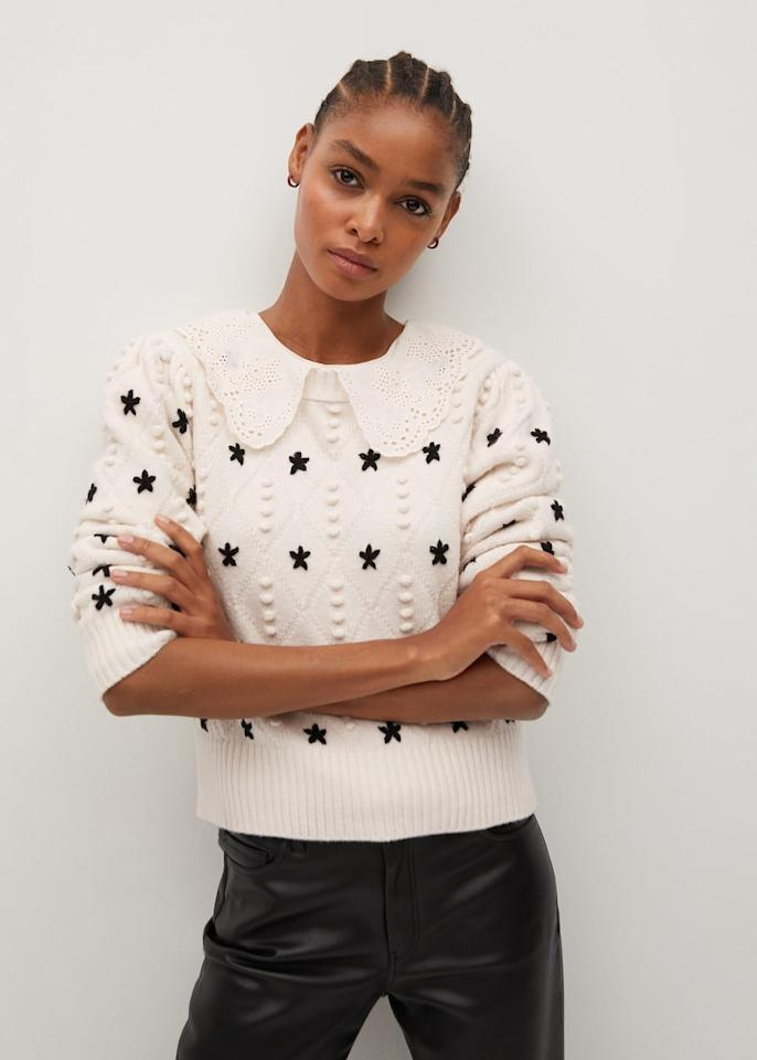 """<p>We have hearts eyes for the <product href=""""https://shop.mango.com/us/women/cardigans-and-sweaters-sweaters/stars-knitted-sweater_77025944.html"""" target=""""_blank"""" class=""""ga-track"""" data-ga-category=""""internal click"""" data-ga-label=""""https://shop.mango.com/us/women/cardigans-and-sweaters-sweaters/stars-knitted-sweater_77025944.html"""" data-ga-action=""""body text link"""">Stars Knitted Sweater</product> ($80).</p>"""