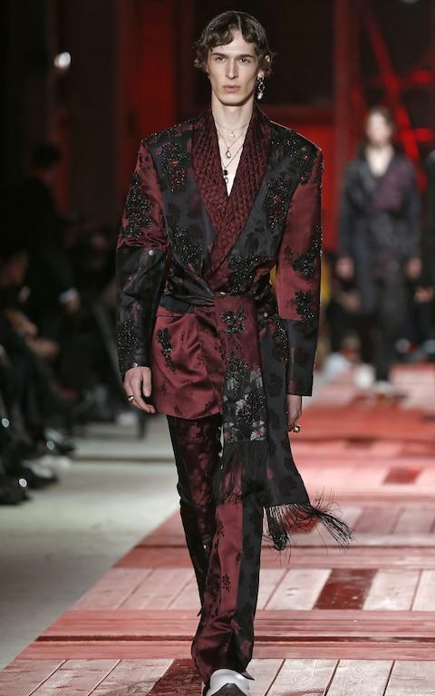 Pyjama style at Alexander McQueen - Credit: Getty Images