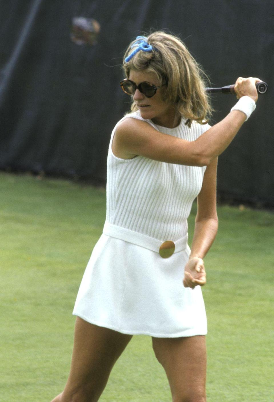 <p>Jean took a few swings at the Robert F. Kennedy Pro-Celebrity Tennis Tournament at Forest Hills Stadium in New York.<br></p>