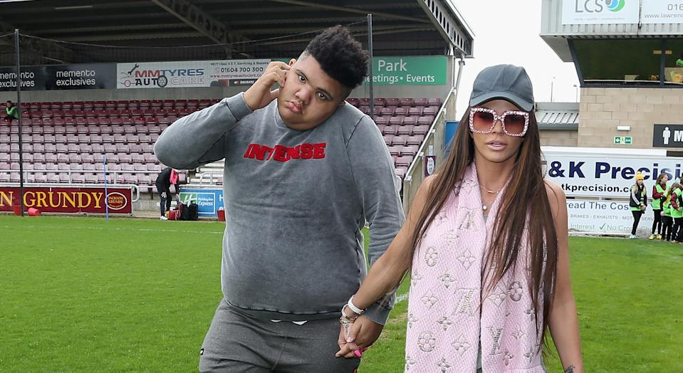 Katie Price says son Harvey is a fighter as he remains in intensive care. (Getty Images)