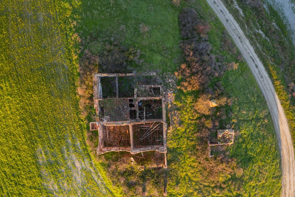 Grand plans: as well as the former house itself, there's also potential to buy some of the surrounding land by separate negotiation