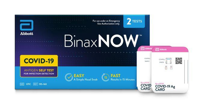 The Abbott BinaxNOW COVID-19 Self Test can be purchased over-the-counter at major U.S. retailers and does not require a prescription.