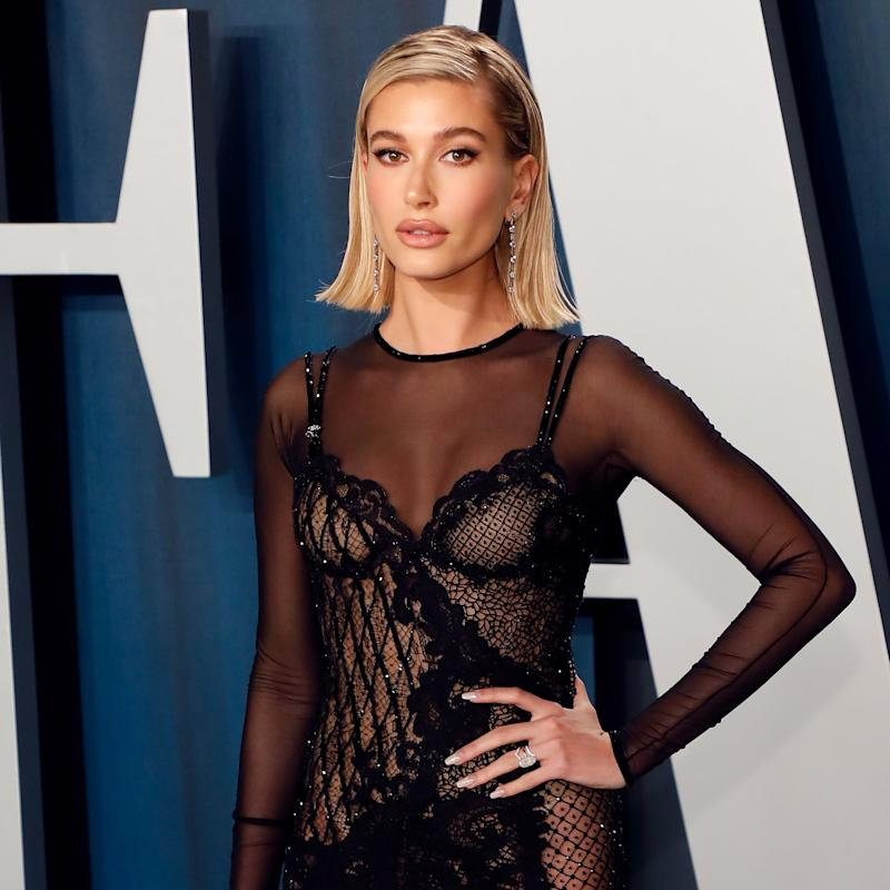 Hailey Bieber's Negative-Space Manicure Is So Subtle, We Almost Didn't Notice It
