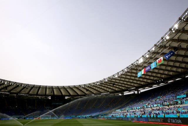 The Stadio Olimpico in Rome will host England's Euro 2020 quarter-final