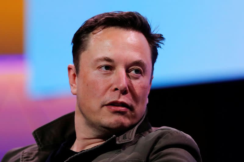 FILE PHOTO - SpaceX owner and Tesla CEO Elon Musk speaks at the E3 gaming convention in Los Angeles
