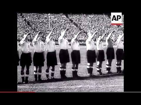 <p>Next, we travel forward eight years in a return to the city at the Berliner Olympiastadion in 1938.</p> <br><p>In front of 120,000 people, two goals from Jackie Robinson saw England beat their opponents 6-3, winning on German soil for the first time after toppling them again 3-0 at White Hart Lane three years earlier.</p> <br><p>Sheffield Wednesday striker Robinson only reached four caps for the Three Lions, but his goals on this occasion marked his name in folklore.</p> <br><p>Despite Rudolf Gellesch leveling Cliff Bastin's opener in the 20th minute, England dominated throughout with Frank Broome, Stanley Matthews and Leonard Goulden also on the score-sheet. </p>