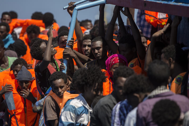 Almost 2,500 migrants and refugees have died trying to cross from Libya to Italy so far this year, according to the United Nations' refugee agency.  (ANGELOS TZORTZINIS via Getty Images)