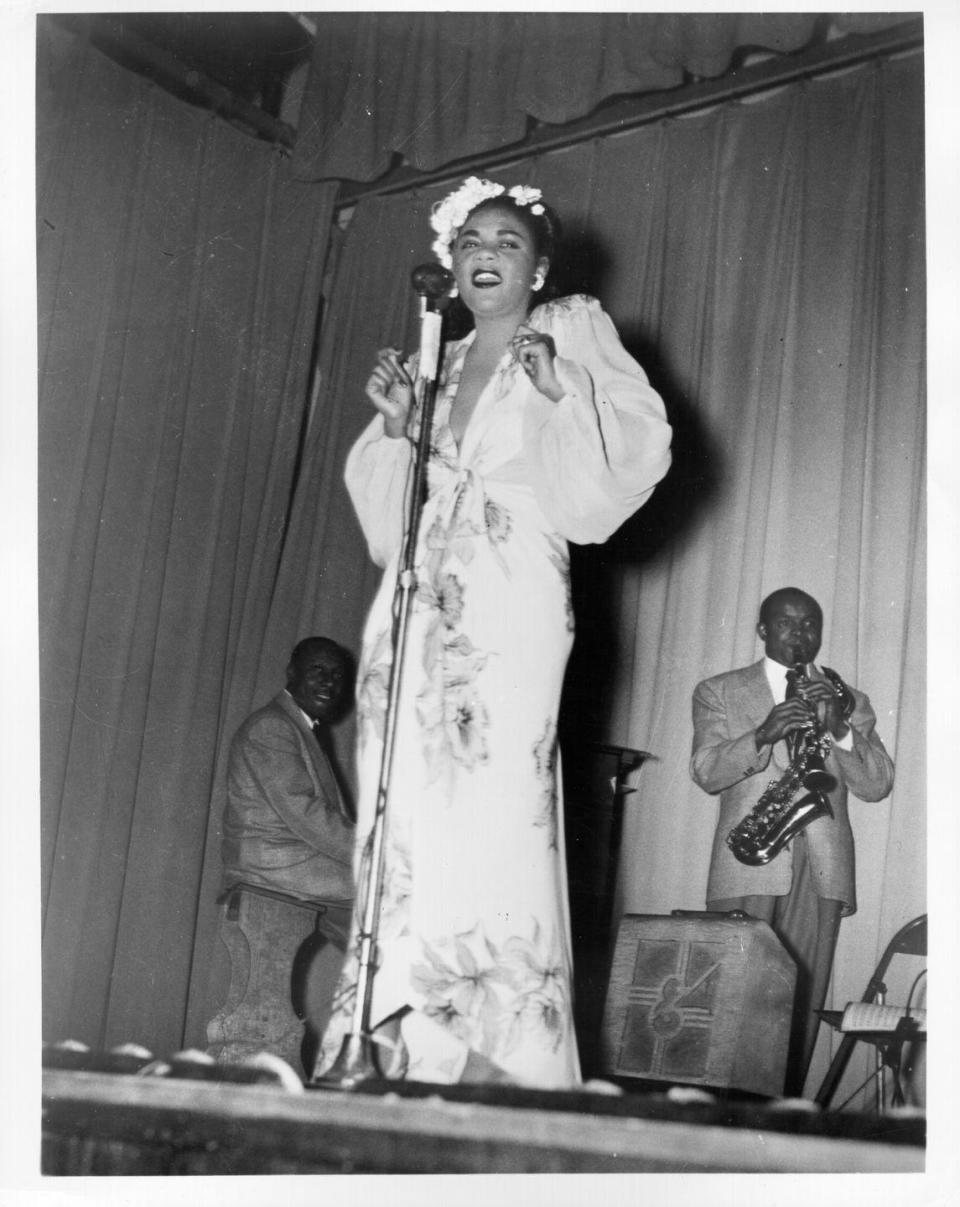 "<p>Known for her unique singing style, Billie Holiday got her start singing in nightclubs in Harlem. After recording with Benny Goodman and touring with Count Basie and Artie Shaw, Holiday became famous for her songs like ""Strange Fruit"" (a song condemning racism she sung at Café Society in 1939 in New York City and would close her shows with for the next 20 years), ""Fine and Mellow,"" and ""I Wished on the Moon."" Holiday never let the fact that she had no formal training stop her from achieving her dreams. </p>"