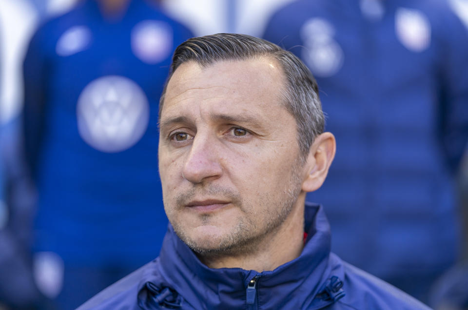 USWNT coach Vlatko Andonovski can't work with his players during the coronavirus pandemic. He can, however, watch all of them play in one location at the NWSL Challenge Cup. (Photo by Brad Smith/ISI Photos/Getty Images)