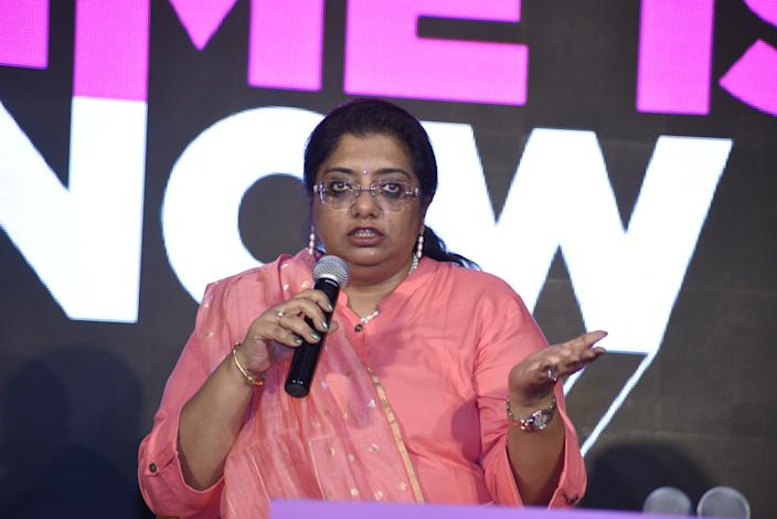 Chhaya Sharma, IG (Investigations) at National Human Rights Commission, speaks at the launch of MAKERSIndia on October 4,2019, at The Oberoi Hotel in New Delhi.
