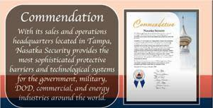 Hillsborough County Board of County Commissioners Commendation for Nasatka Security