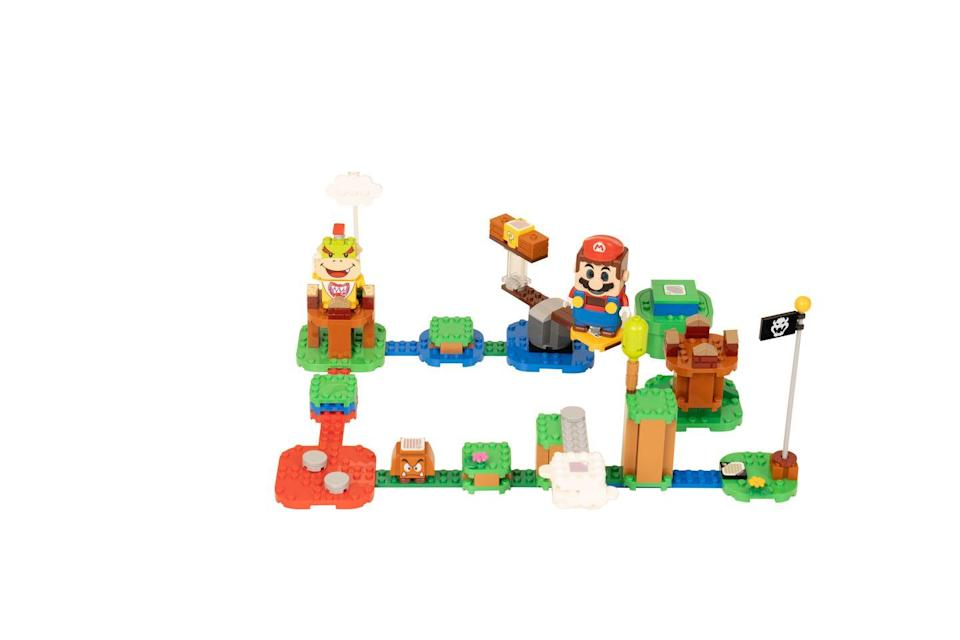 """<p>The LEGO Mario figure has colour sensors, plus LCD screens in his eyes, mouth and belly to display over 100 different instant reactions to movement. Also included is a speaker that plays iconic sounds and music from the video game. The figure collects virtual coins as he runs and jumps from the Start Pipe to the Goal Pole, touching 7 action bricks for different interactions. </p><p><a class=""""link rapid-noclick-resp"""" href=""""https://go.redirectingat.com?id=127X1599956&url=https%3A%2F%2Fwww.argos.co.uk%2Fproduct%2F8445612&sref=https%3A%2F%2Fwww.housebeautiful.com%2Fuk%2Flifestyle%2Fshopping%2Fg33533336%2Fargos-christmas-toys-2020%2F"""" rel=""""nofollow noopener"""" target=""""_blank"""" data-ylk=""""slk:BUY NOW VIA ARGOS"""">BUY NOW VIA ARGOS</a></p><p>•Also available at the <a href=""""https://go.redirectingat.com?id=127X1599956&url=https%3A%2F%2Fwww.lego.com%2Fen-gb%2Fproduct%2Fadventures-with-mario-starter-course-71360&sref=https%3A%2F%2Fwww.housebeautiful.com%2Fuk%2Flifestyle%2Fshopping%2Fg33533336%2Fargos-christmas-toys-2020%2F"""" rel=""""nofollow noopener"""" target=""""_blank"""" data-ylk=""""slk:LEGO shop"""" class=""""link rapid-noclick-resp""""><strong>LEGO shop</strong></a>.</p>"""
