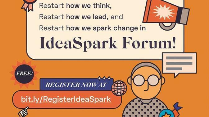 IdeaSpark Forum: 5-8 November 2020.(Foto: Instagram @ideafestid)
