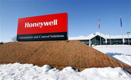 File photo outside the Honeywell International Automation and Control Solutions manufacturing plant in Golden Valley