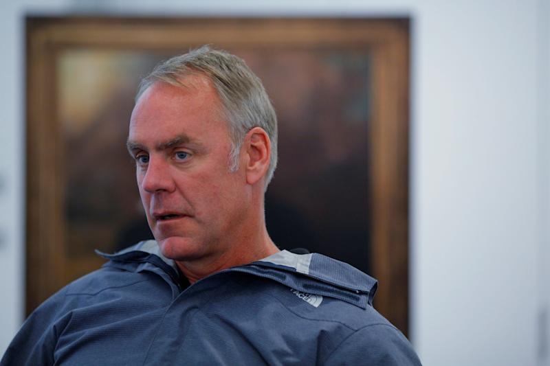 Interior Secretary Ryan Zinke said he has removed four senior leaders from the departmentin response to an employee survey revealing widespread harassment.