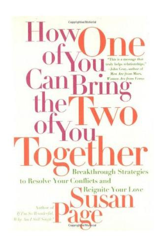 """<div class=""""caption-credit""""> Photo by: Amazon</div><div class=""""caption-title""""></div><b><i>How One of You Can Bring the Two of You Together: Breakthrough Strategies to Resolve Your Conflicts and Reignite Your Love</i>, by Susan Page</b> <br> <br> We love this one because it's essentially telling women that men don't get it, so we have to do all of the work in our relationship. Fun times. First of all, this doesn't give men any credit, as they are just as capable of intelligently and determinedly working out relationship problems as we are. Second of all, this book isn't doing marriage any favors by making it seem like relationships are all about women bending over backwards while men sit idly by. Hmm, maybe <i>that's</i> why women aren't married…yet. Doesn't sound very fun, does it? <br> <br> P.S. Oh, and let's not miss the fact that the author of this book also wrote <a rel=""""nofollow"""" href=""""http://www.amazon.com/How-Get-Published-Make-Money/dp/0749919469/ref=la_B001IGUZUU_1_10?ie=UTF8&qid=1347294488&sr=1-10"""" target=""""_blank"""">this one</a>. Again, we cannot make this s"""