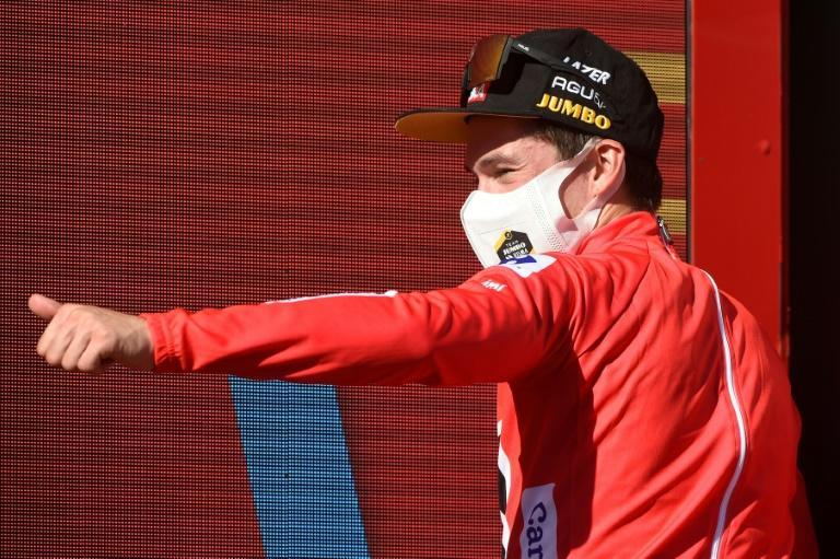 Primoz Roglic is one day away from claiming a third straight Vuelta triumph (AFP/MIGUEL RIOPA)