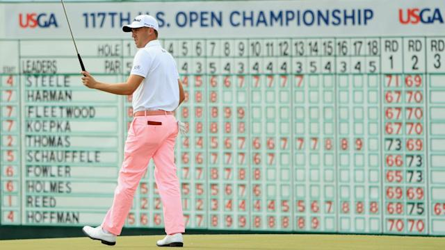 After struggling to back up his 63, Justin Thomas rued not being in contention late at the U.S. Open.