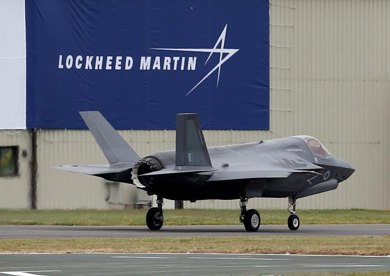 FILE PHOTO - A RAF Lockheed Martin F-35B fighter jet taxis along a runway after landing at the Royal International Air Tattoo at Fairford