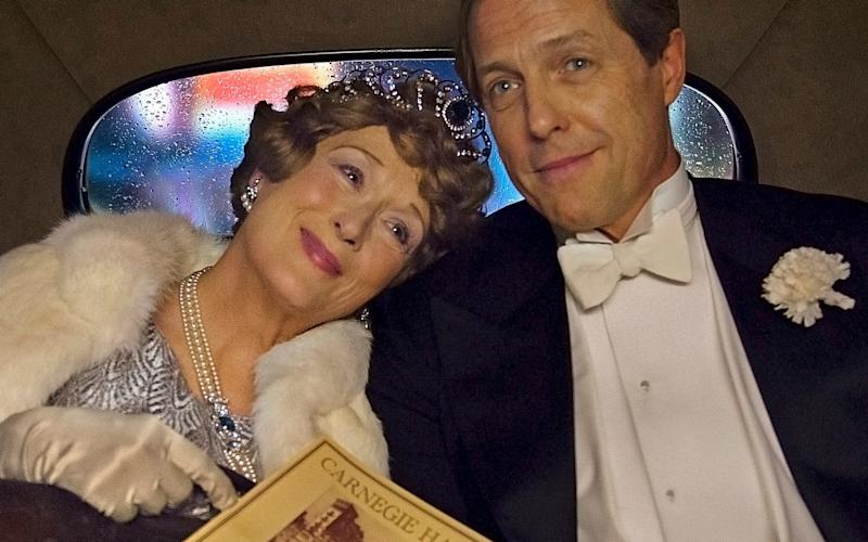 Julia Kogan claims she helped Nicholas Martin write the award-winning 2016 film Florence Foster Jenkins, starring Meryl Streep and Hugh Grant (pictured) - Handout