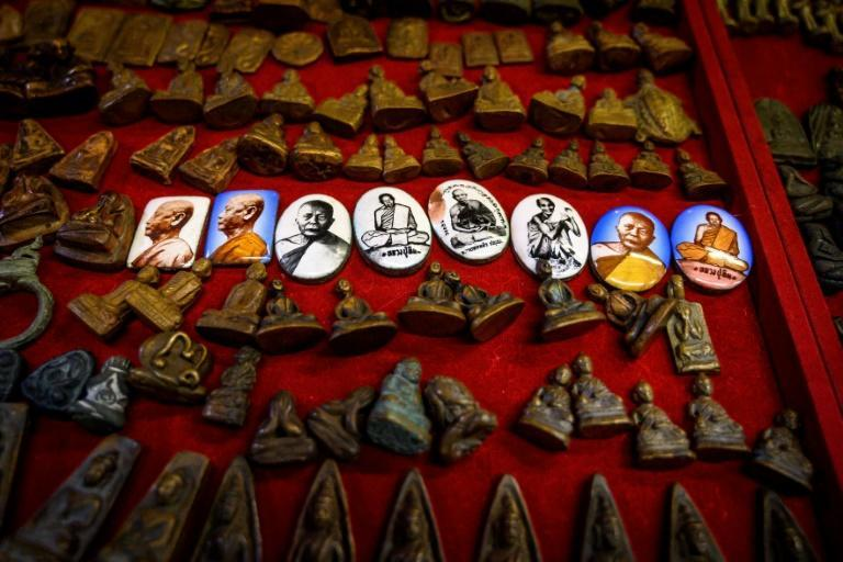 Collecting amulets and other small religious trinkets is a popular pastime in Buddhist-majority Thailand, where the capital Bangkok has a market solely dedicated to the traders of these lucky objects