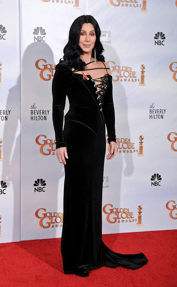 "67th Annual Golden Globe Awards (2010)    Fun fact: Cher won a Golden Globe in 1974 for her starring role on ""The Sonny and Cher Comedy Hour,"" a second trophy ten years later for ""Silkwood,"" and her latest in 1988 for ""Moonstruck."""