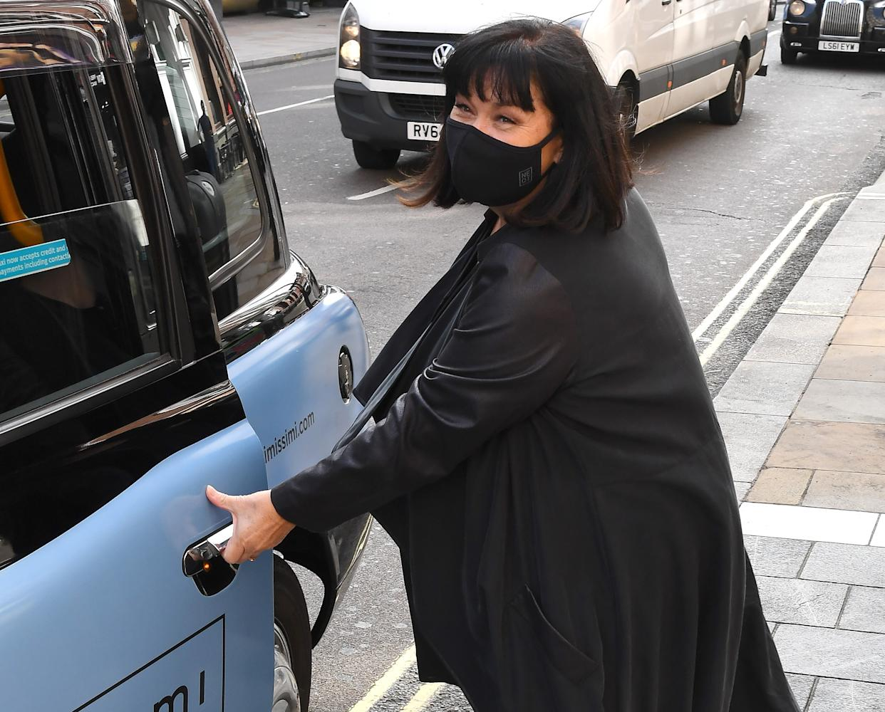 Dawn French in September 2020 after regaining weight. (Getty Images)