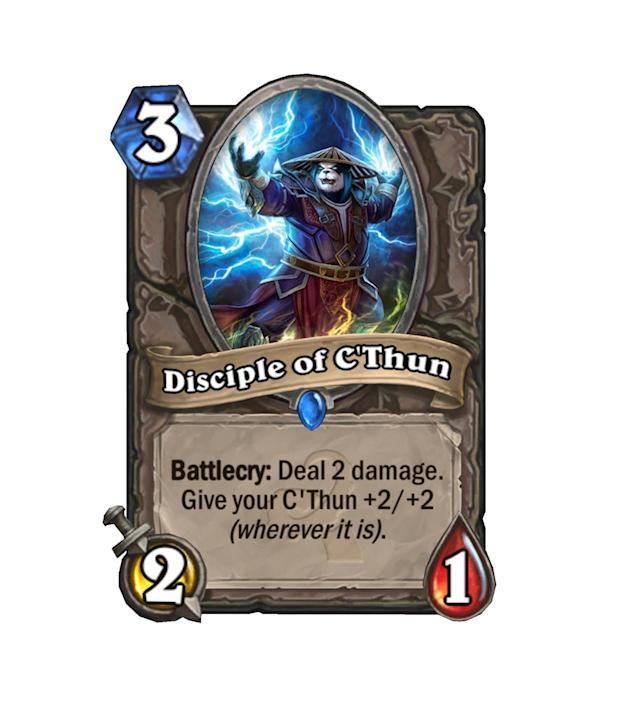 <p>With the amount of really good C'Thun buffing cards in Whispers, Disciple of C'Thun is among the weakest. Not terrible, but not exactly strong, either.</p>