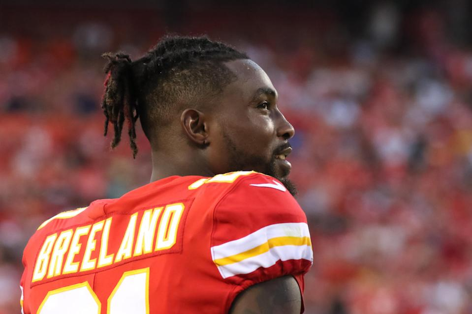 """Chiefs CB Bashaud Breeland, who allegedly told cops he was a """"marijuana enthusiast,"""" was arrested at gunpoint on Tuesday. (Scott Winters/Getty Images)"""