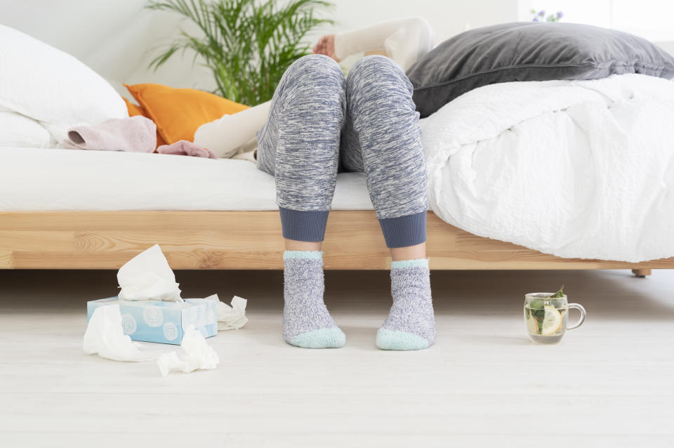 Delivery services like Walmart+ are a must-have when you're sick. (Photo: Getty Images)